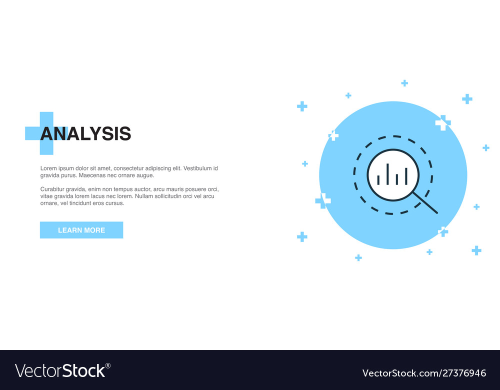 Analysis icon banner outline template concept