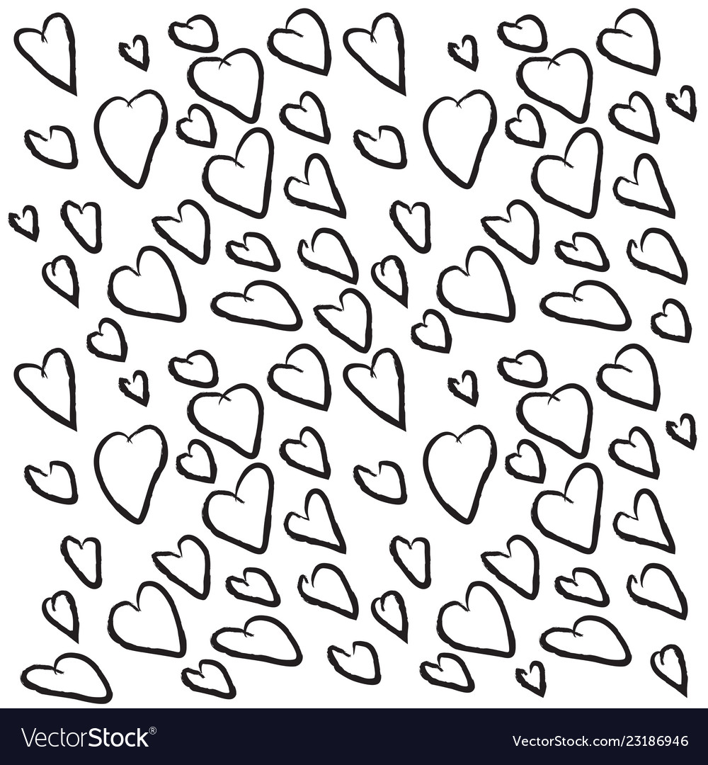Background of black hearts for valentines day