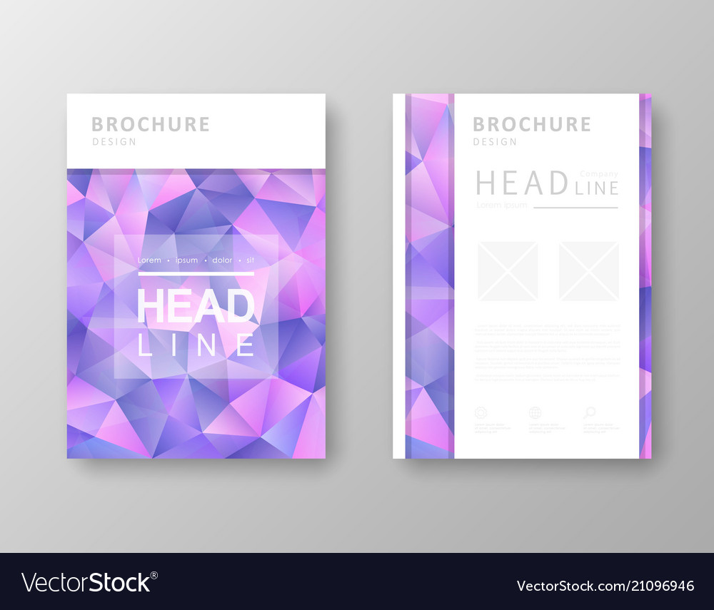 Brochure design with abstract background