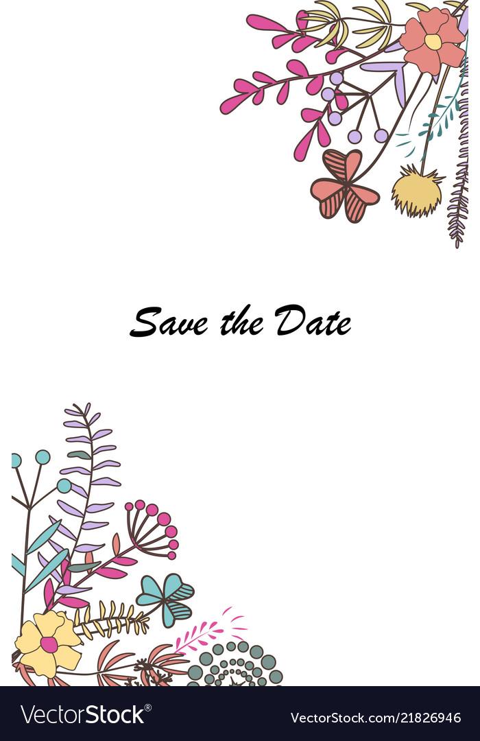Design for wedding card invitation template