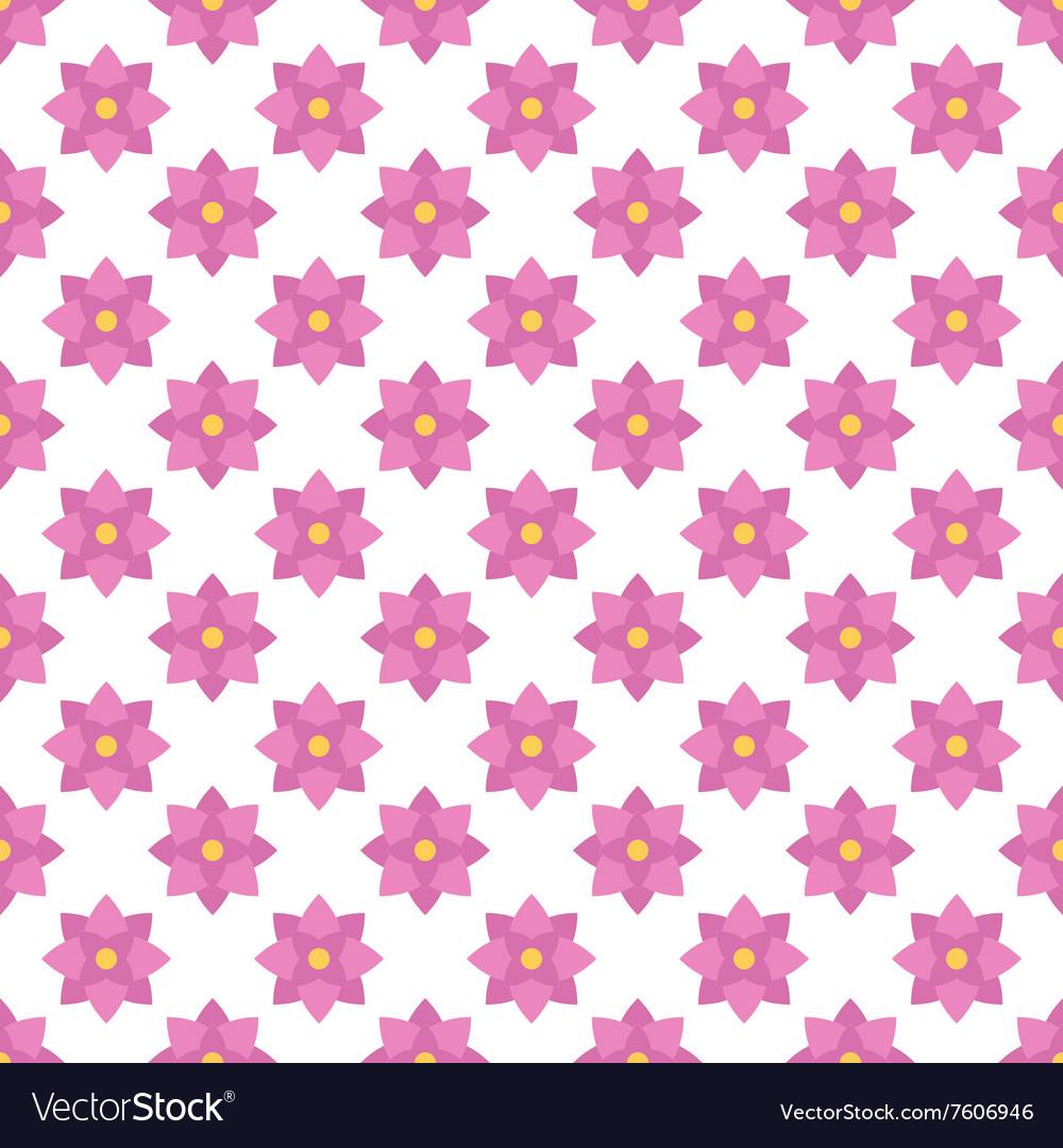 Flat design pink floral seamless pattern