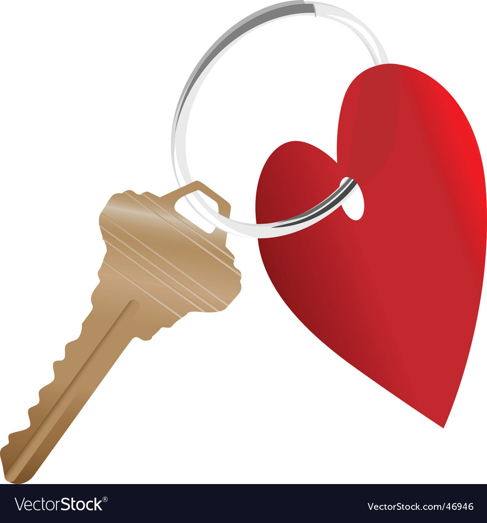 Heart Symbol And House Key Royalty Free Vector Image