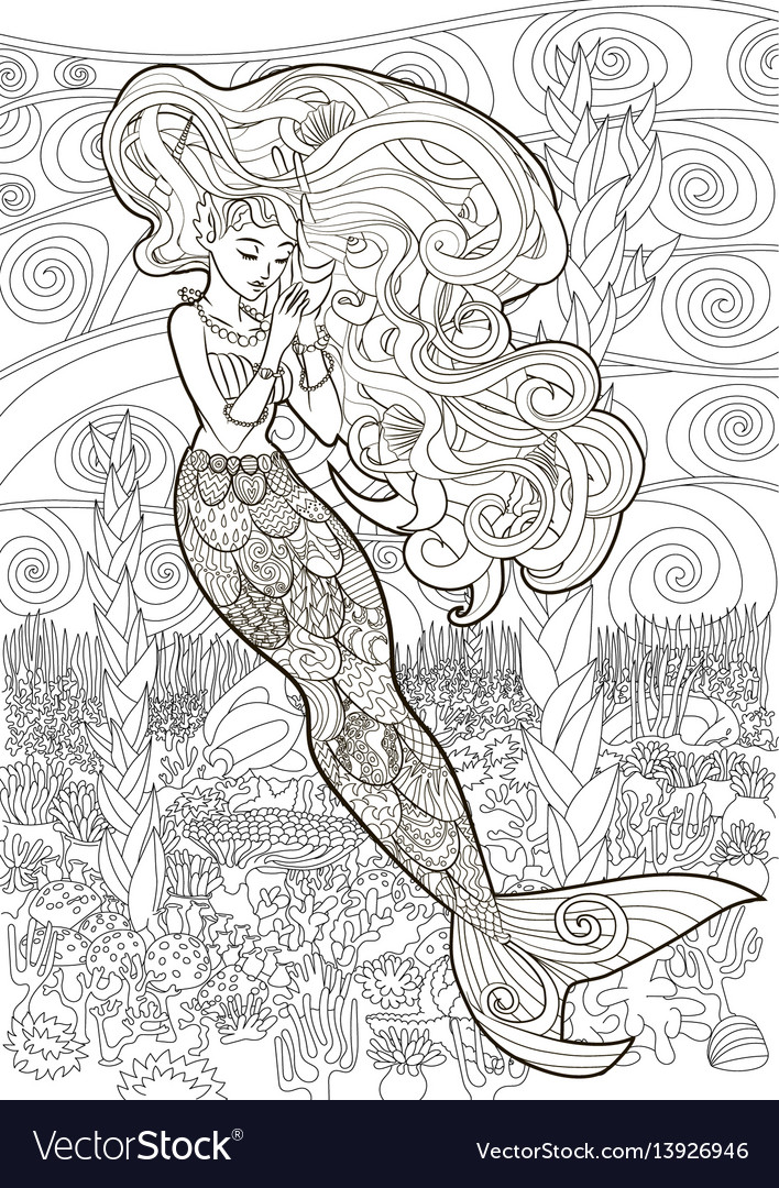 Patterned of a mermaid