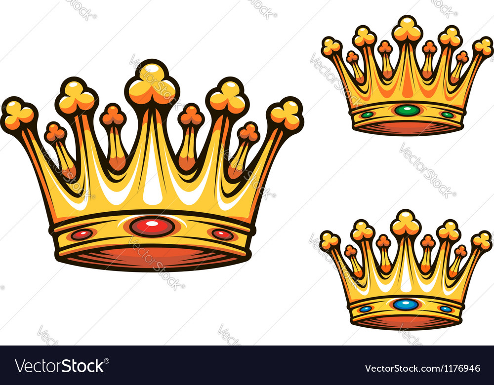 Royal King Crown Royalty Free Vector Image Vectorstock Over 31,136 crown cartoon pictures to choose from, with no signup needed. vectorstock