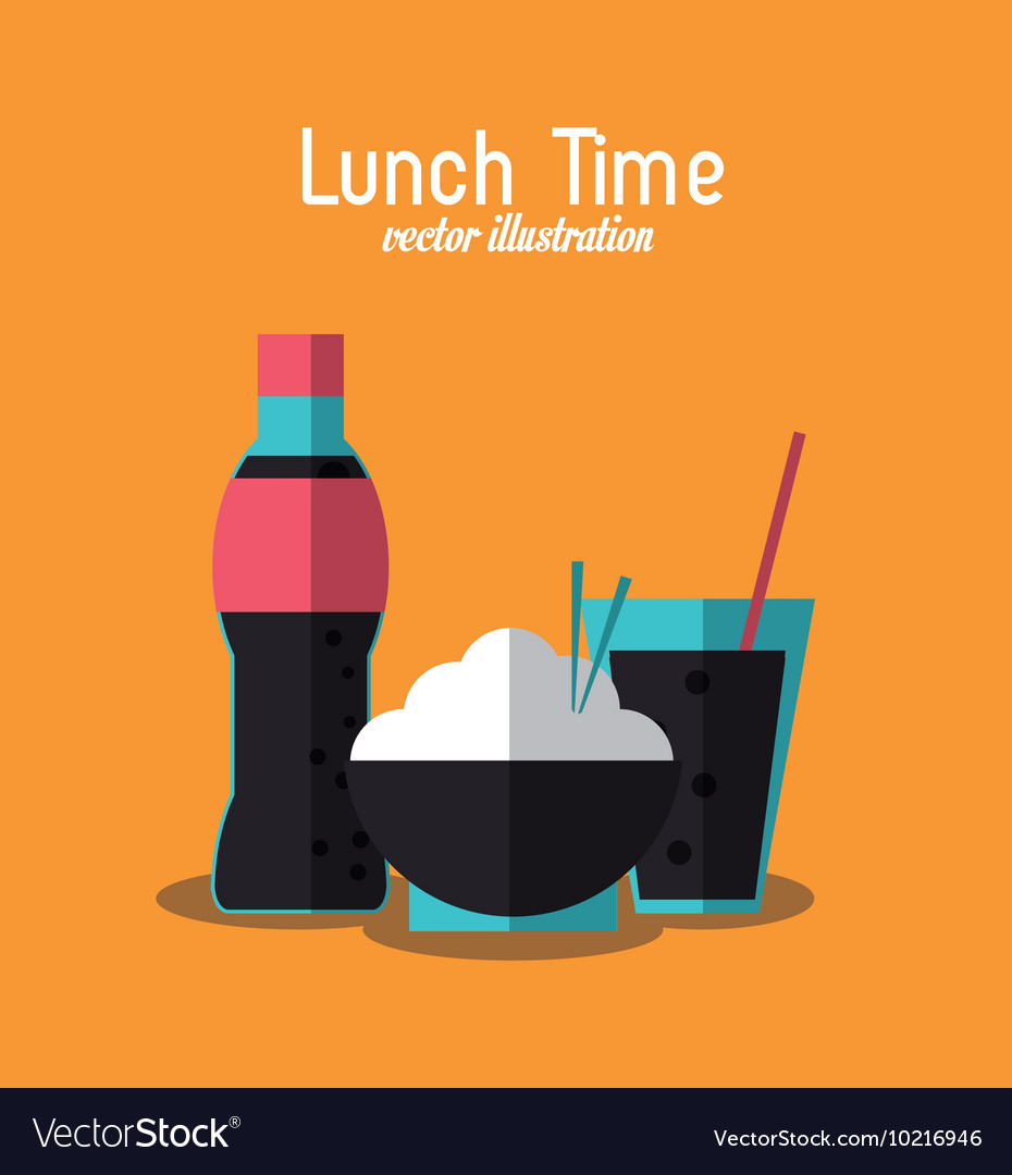 Soda rice coke lunch time menu icon