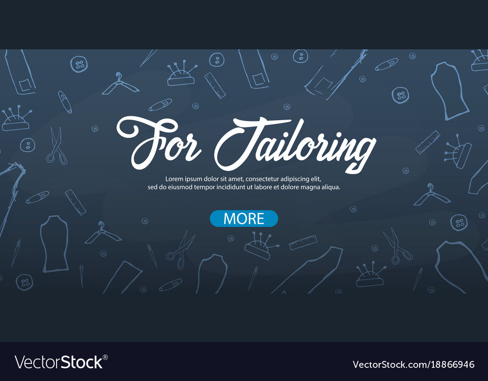 Tailor and seamstress banner sewing kit
