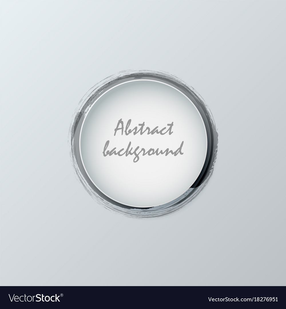 Black watercolor with circles abstract background vector image