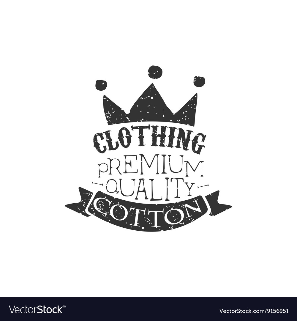 Cotton clothing Black And White Vintage Emblem vector image