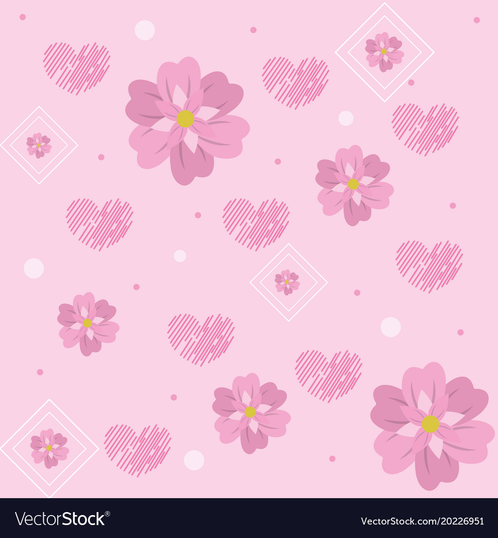 Cute Flowers Pattern Background Royalty Free Vector Image