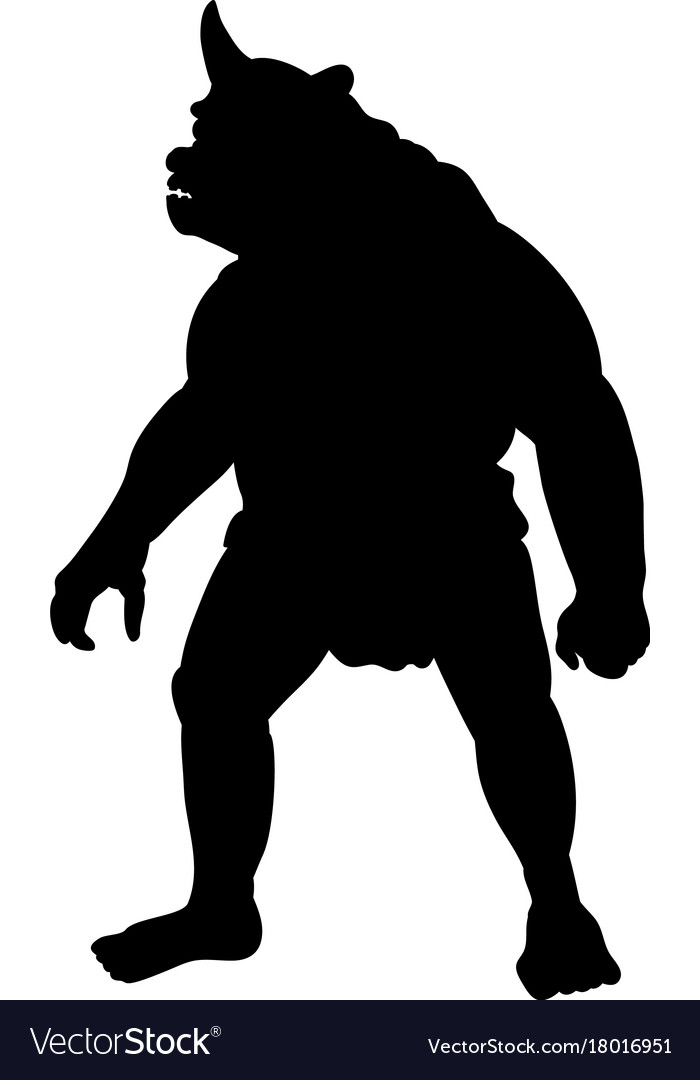 Cyclops silhouette monster villain fantasy