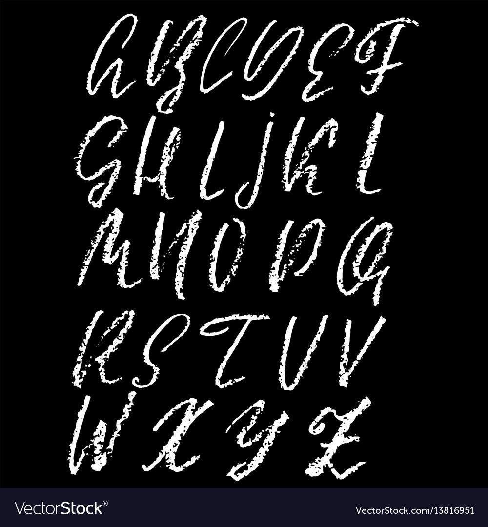 Handwritten chalked alphabet imitation