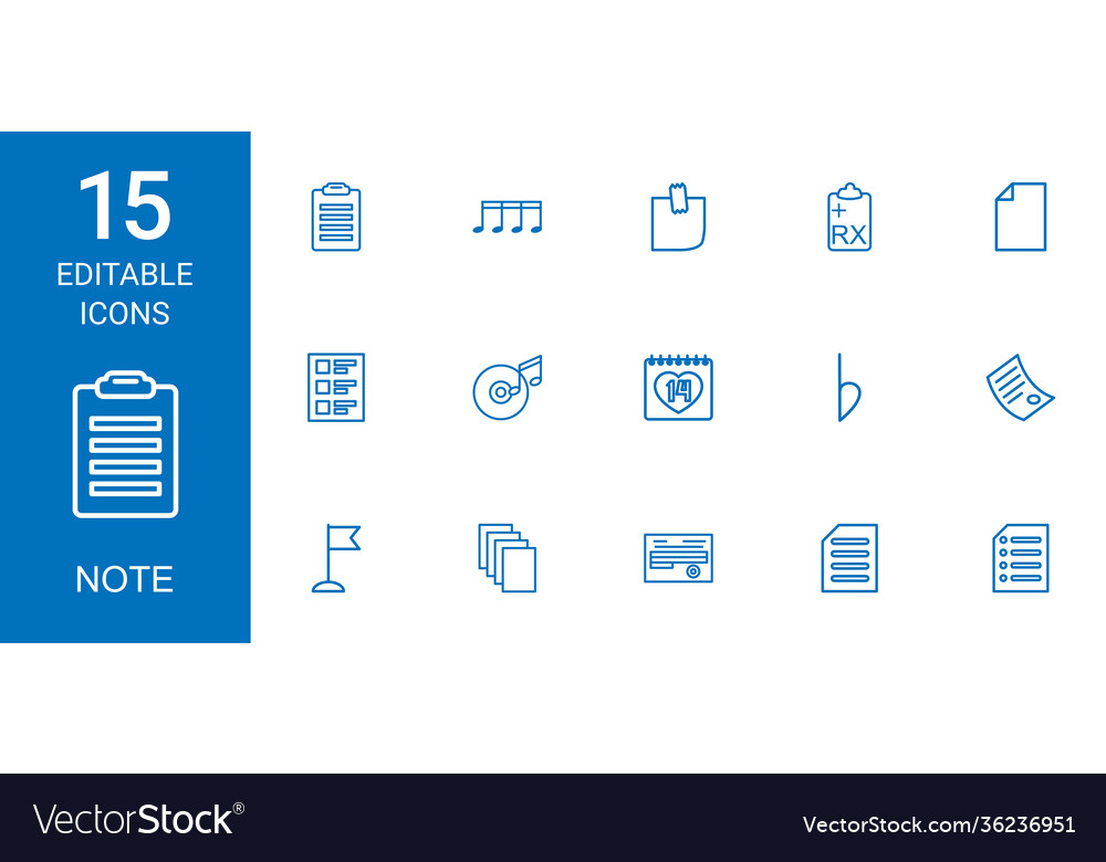 Note icons