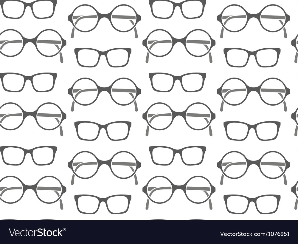 Set of fashionable glasses silhouettes