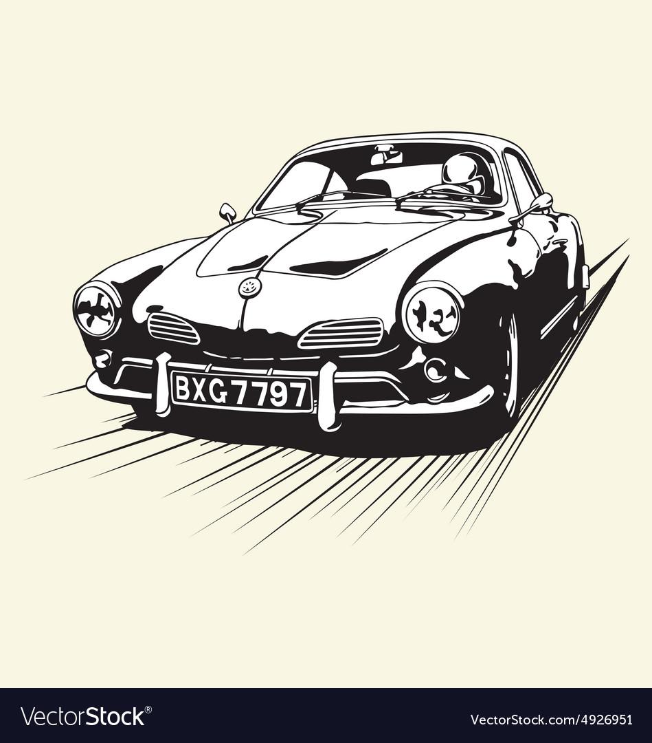 VINTAGE CAR RACE vector image