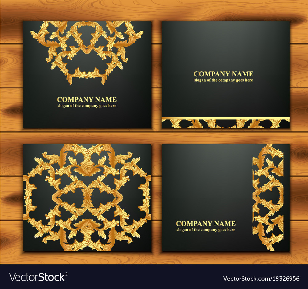 Set With Luxurious Ornament Vector Image