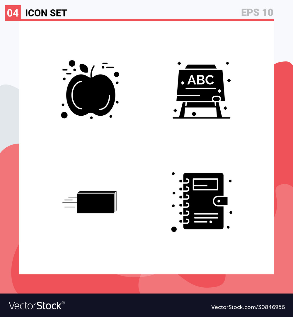 Group Solid Glyphs Signs And Symbols For Apple Vector Image