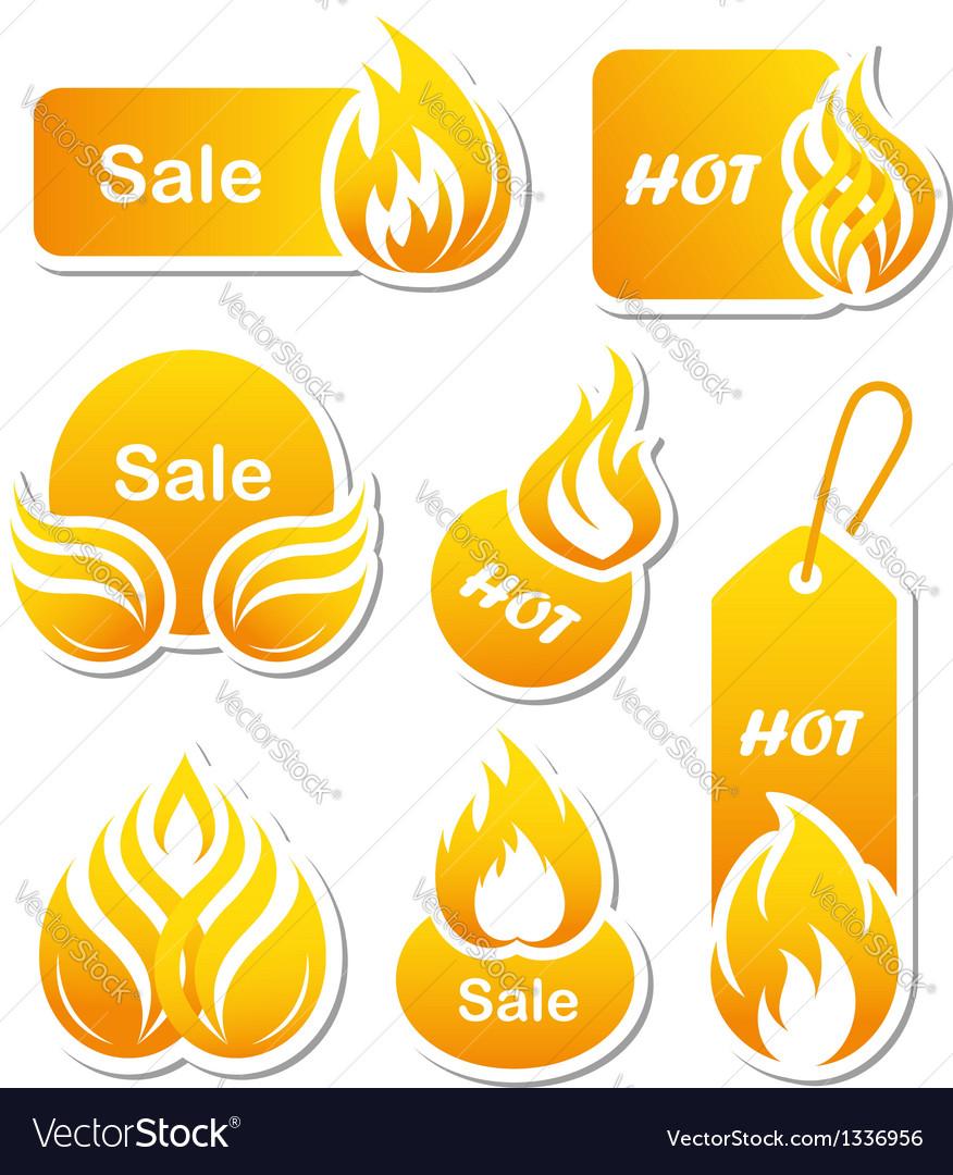 Hot sale paper cut labels vector image