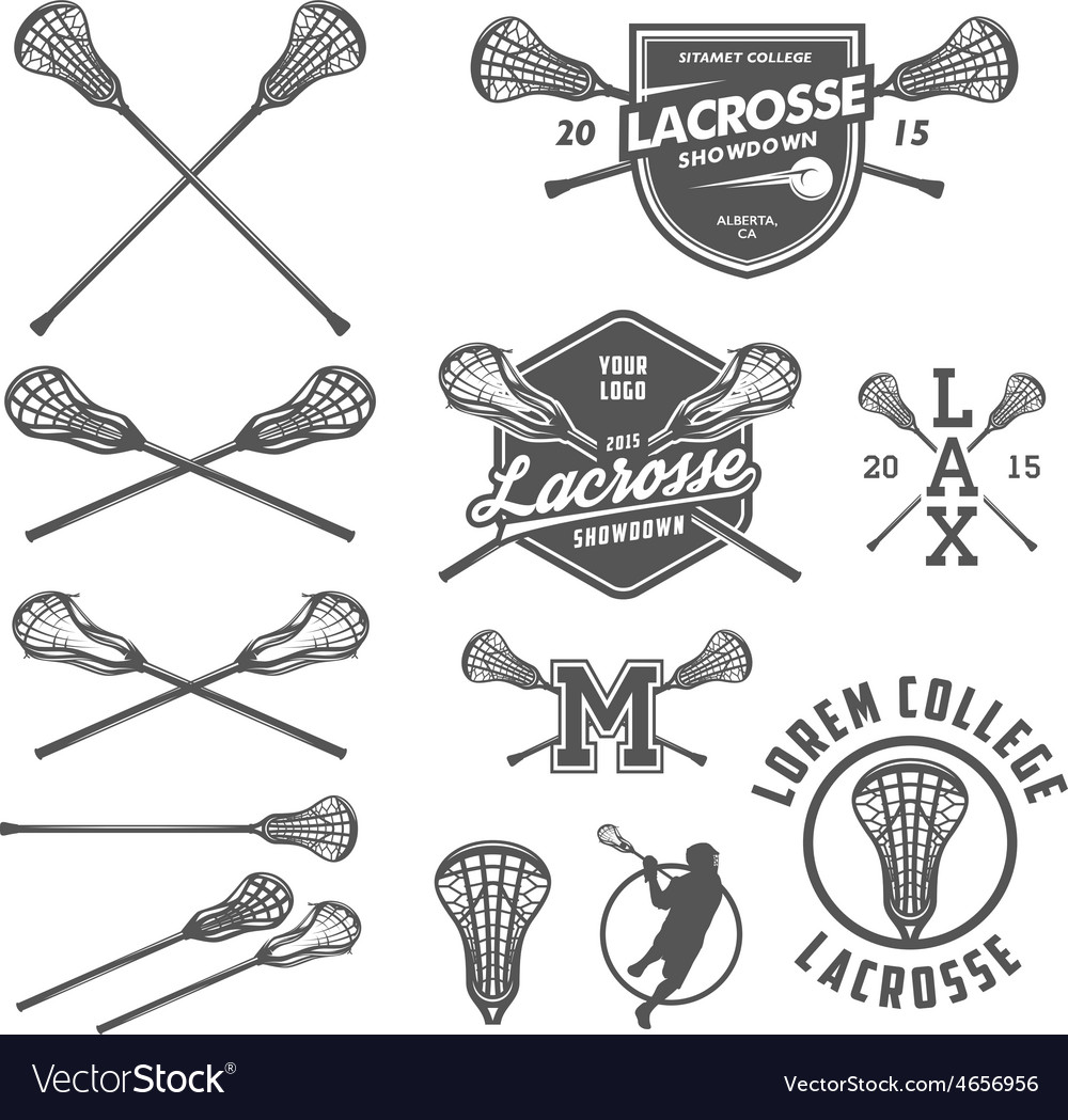 Set lacrosse design elements