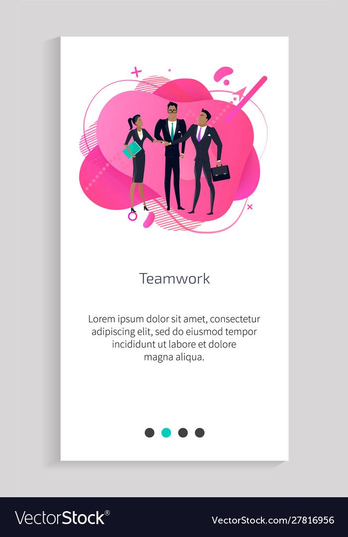 Teamwork successful people team businessmen