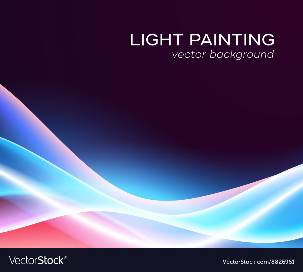 Abstract background glowing waves
