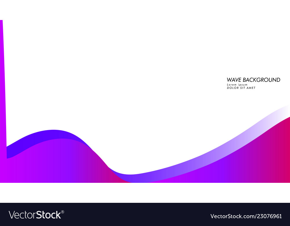 Abstract wave background with gradient pink and