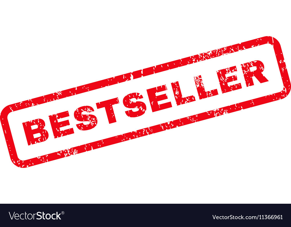 Bestseller Text Rubber Stamp vector image