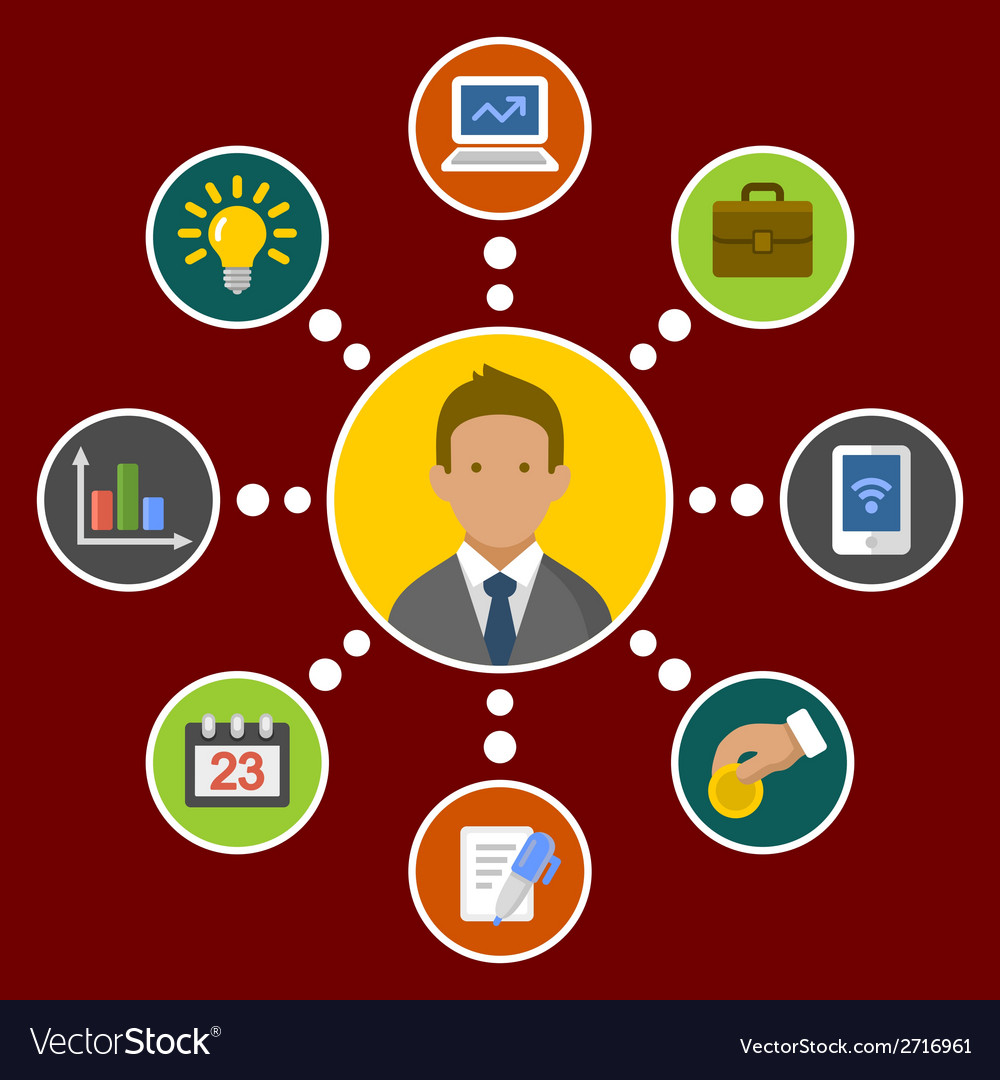 Business Concept Infographic Design Elements in vector image