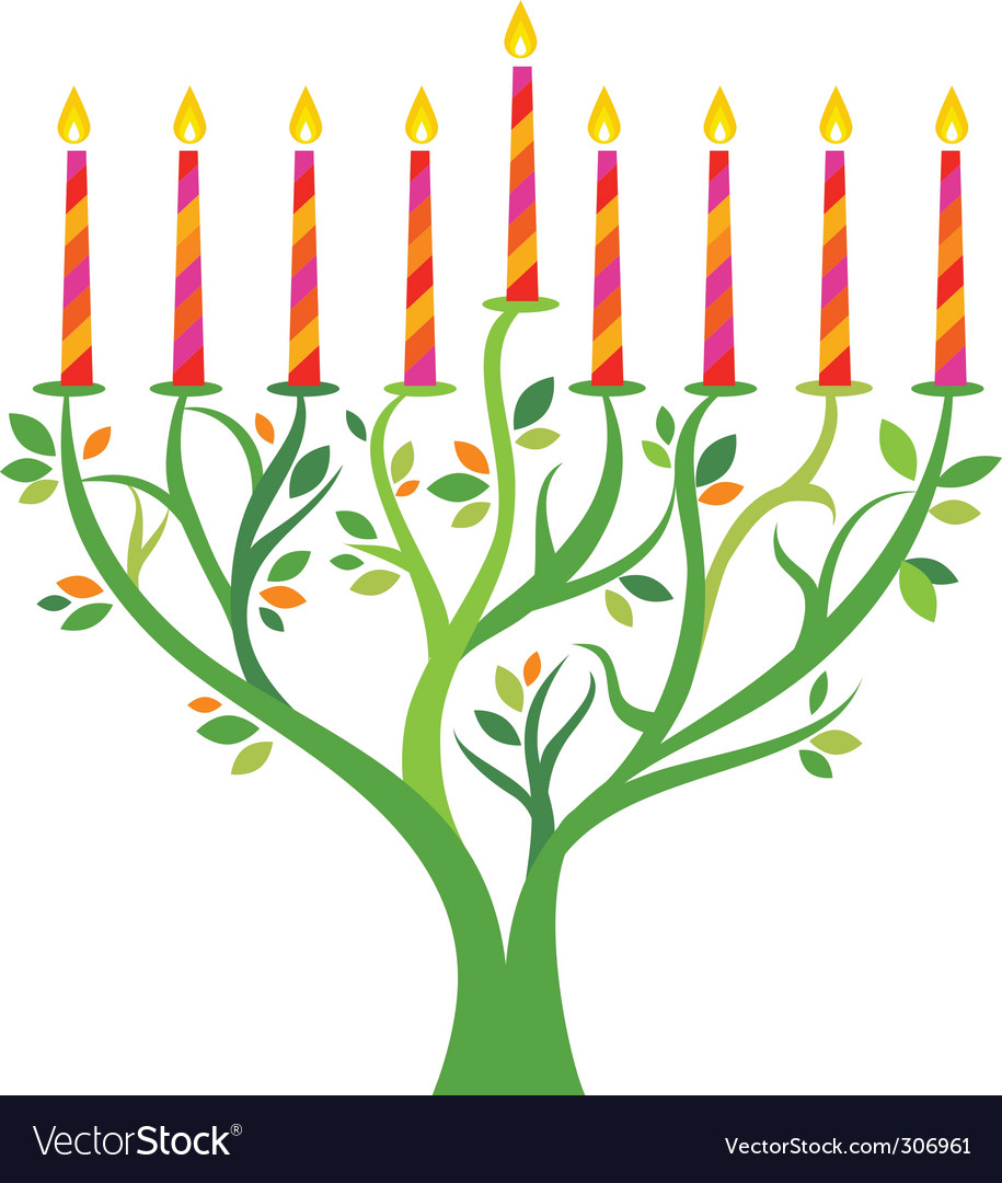 Candles in tree background vector image