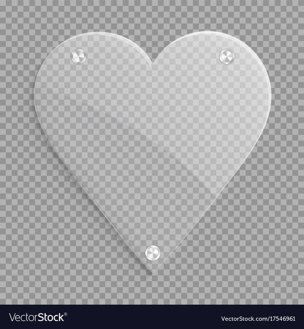 Clear Heart Icon Royalty Free Vector Image Vectorstock