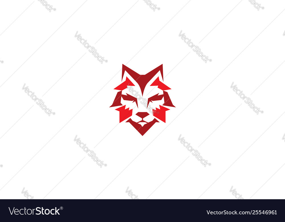 Fox geometric logo icon