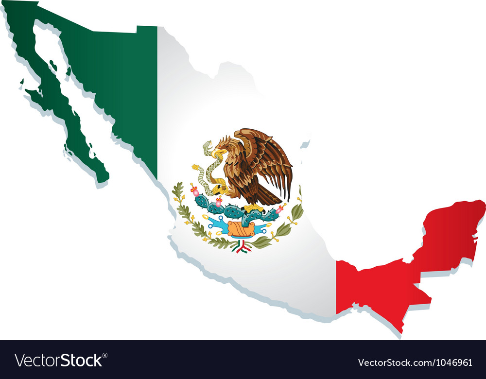 mexico flag royalty free vector image vectorstock rh vectorstock com mexican flag vector mexico flag eagle vector