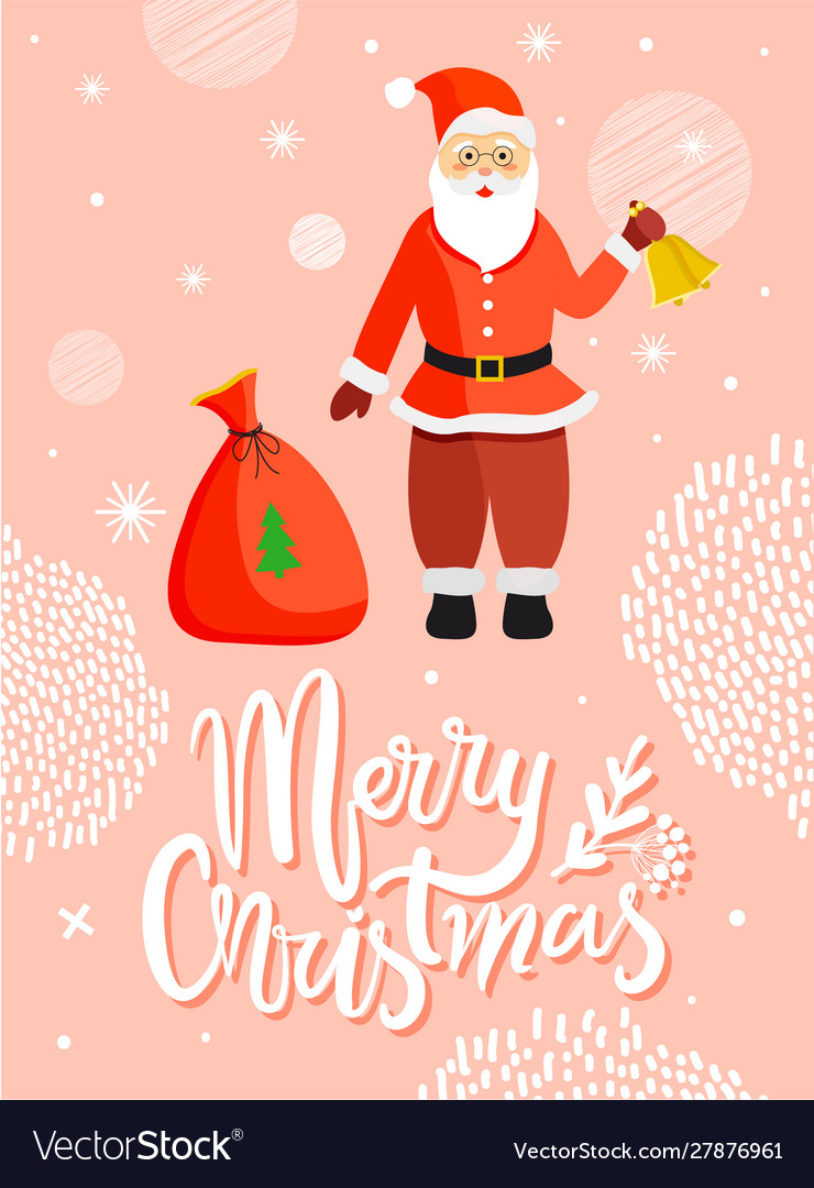 Santa claus greeting merry christmas card