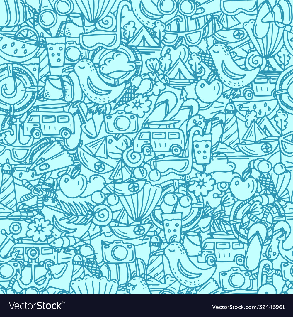 Seamless pattern for summer time theme