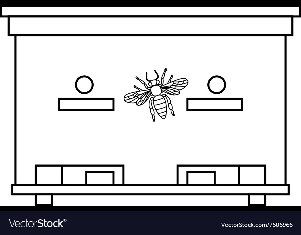 Bee beehive outline