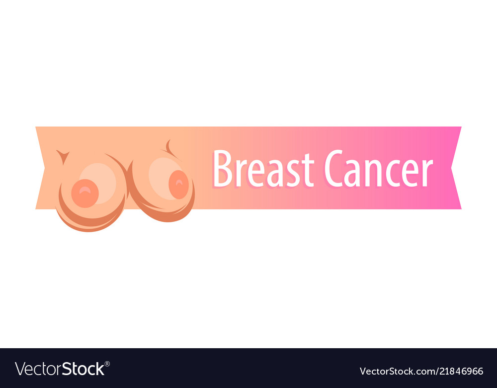 Breast cancer ribbon on white - attractive