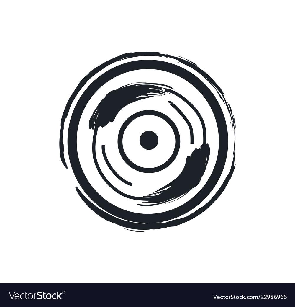Disk or vinil recorder rock symbol