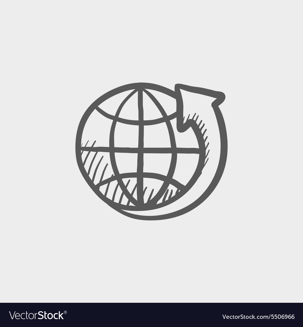 Earth design sketch icon vector image