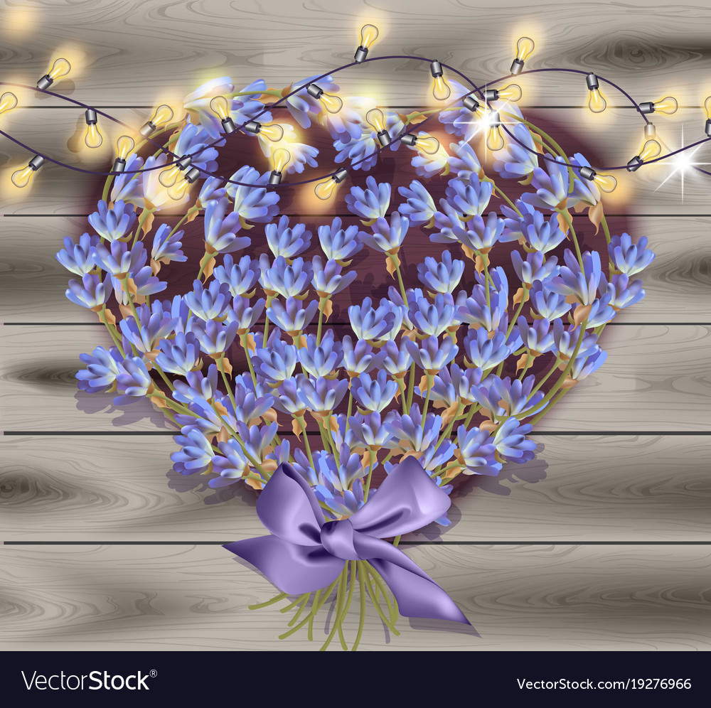 Lavender greeting card valentines day flowers vector image izmirmasajfo