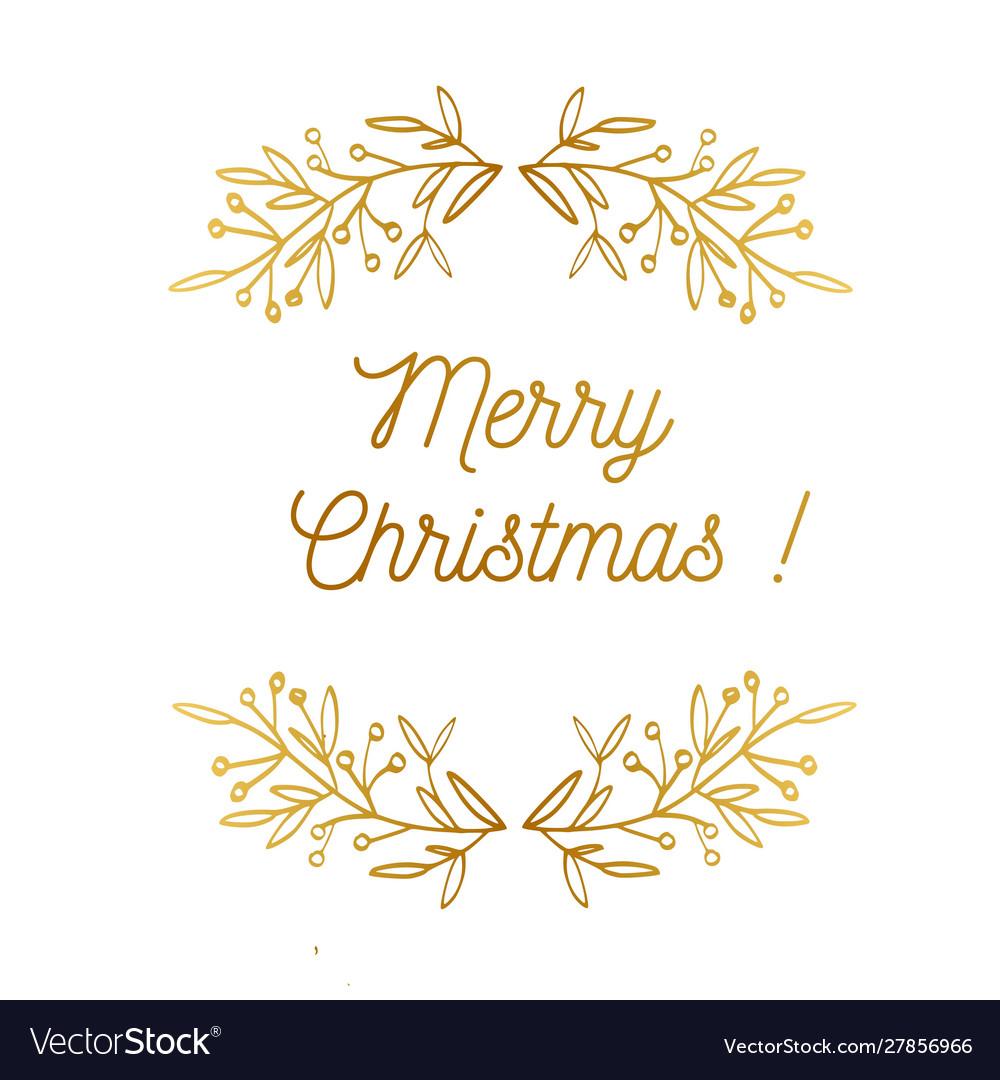 Merry christmas emblem symbol frame
