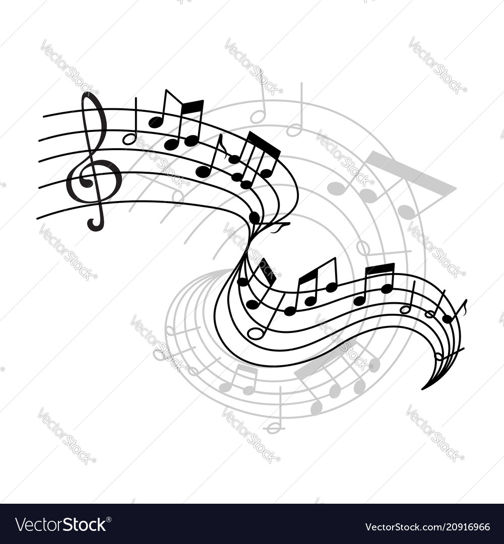 Music notes on staff icon