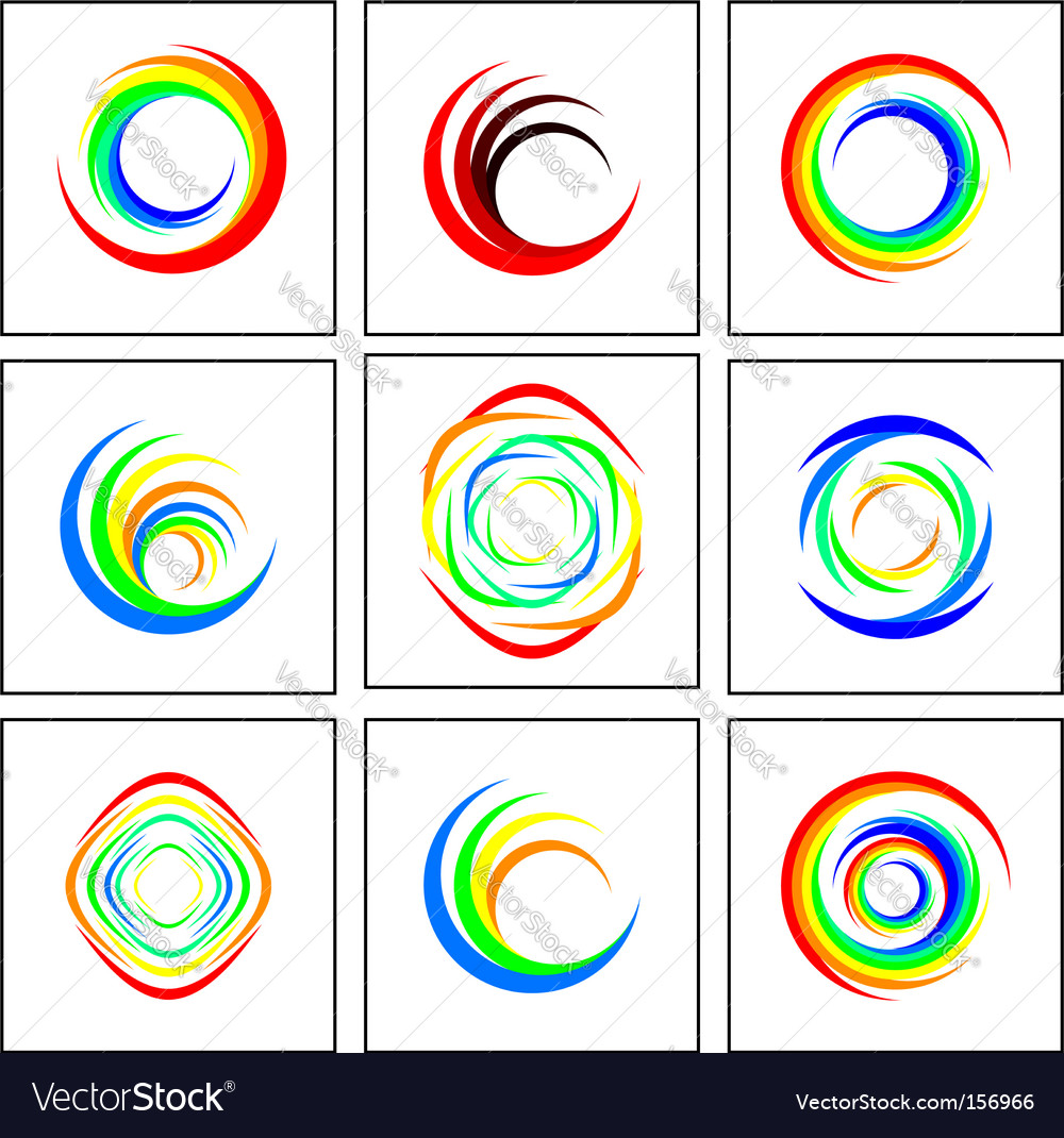 Ring background vector image