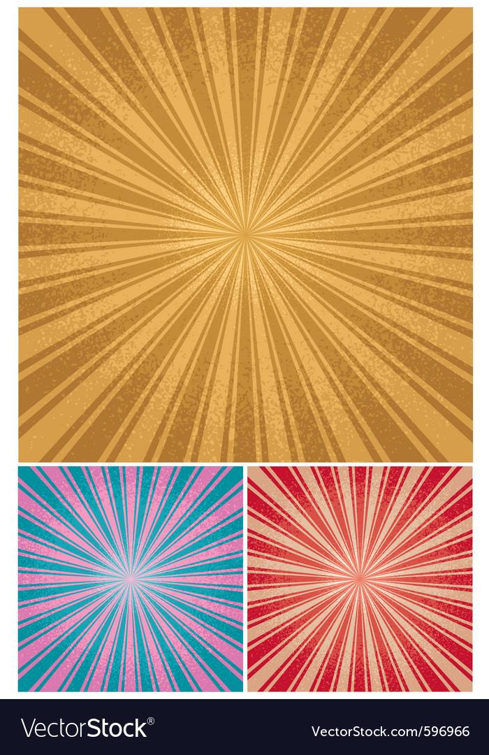 Vintage radial background