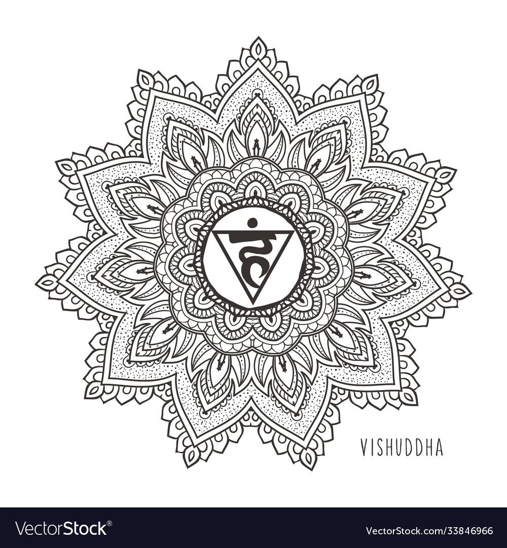 Vishudda fifth chakra throat