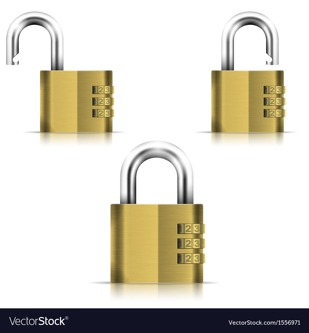 Brass Open And Closed Isolated Padlock