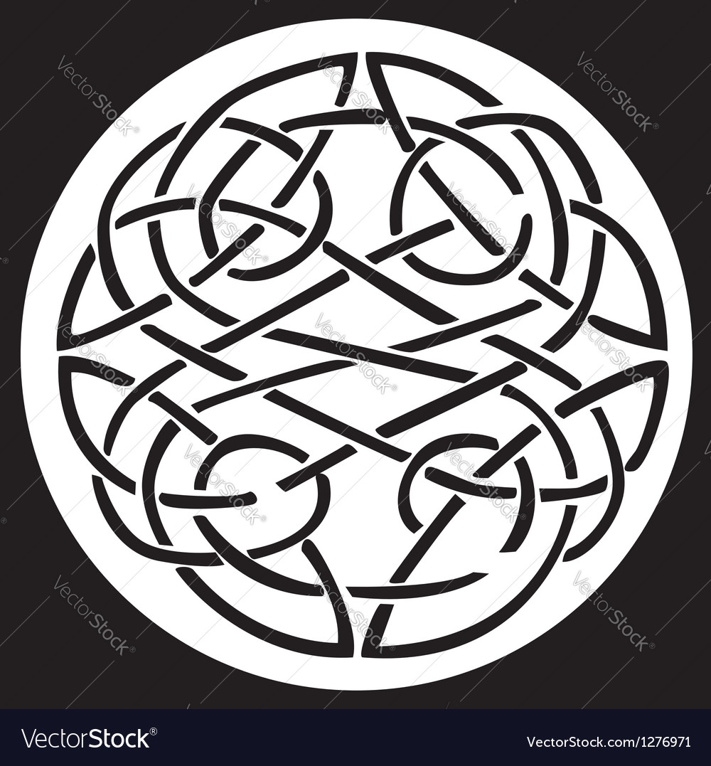 Celtic knot pattern design