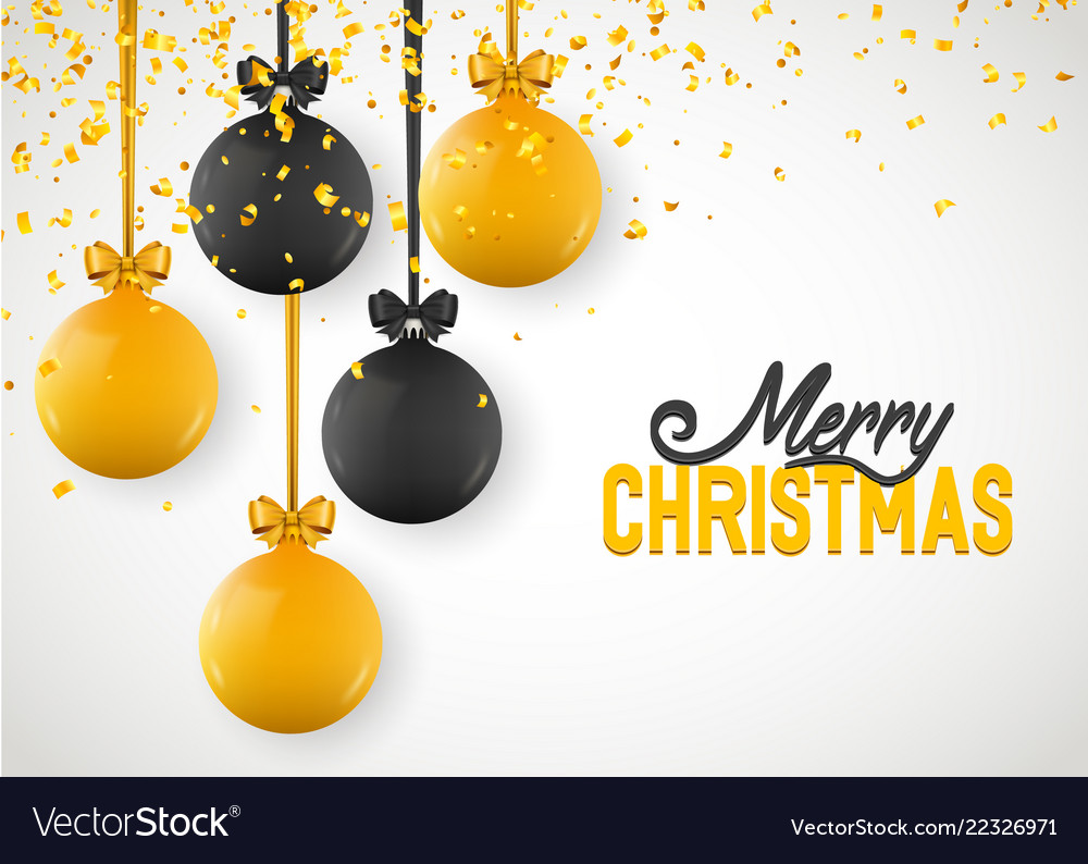 Christmas greeting card design of xmas balls with