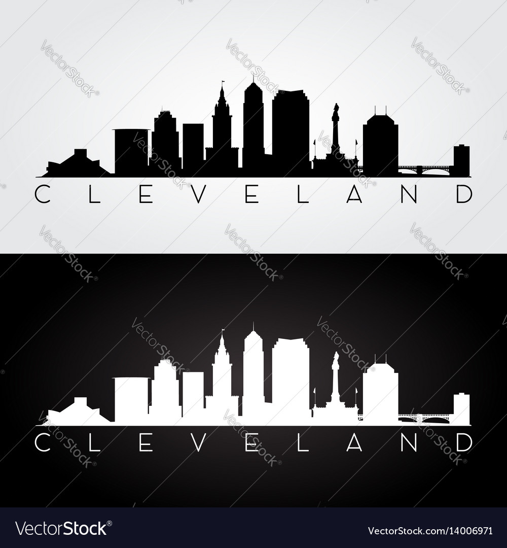 Cleveland Ohio & Skyline Vector 53