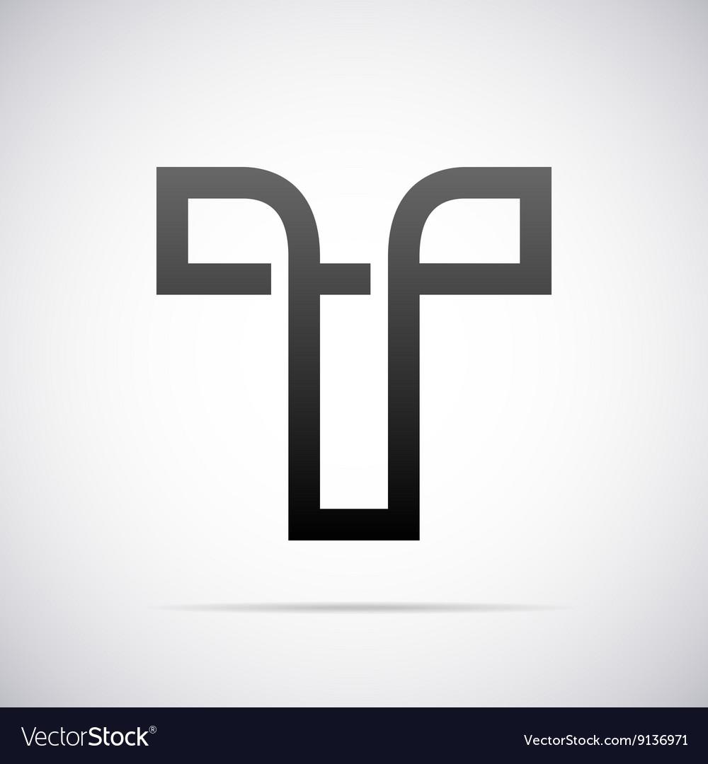 Logo for letter T Design template