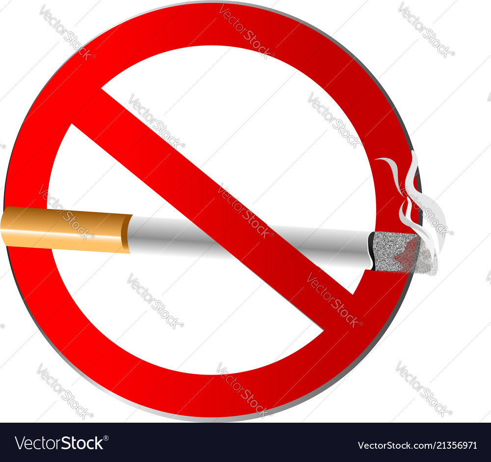No Smoking Symbol Icon Royalty Free Vector Image