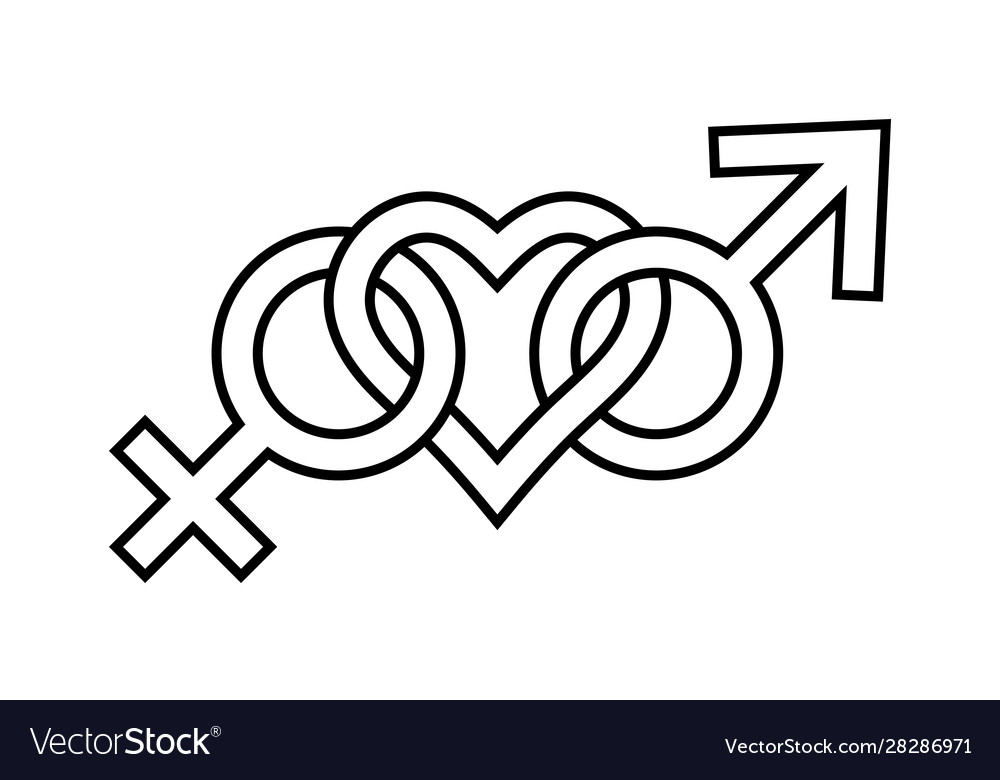Sign symbol love for man and woman gender icons